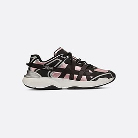 "DIOR - ""B24 Runtek"" sneaker in pink technical canvas front view"