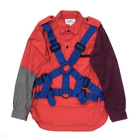 PEEL&LIFT - multiple color parachute shirt / main body:red