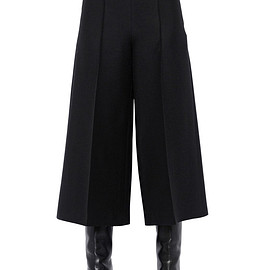 VALENTINO - FW2015 CROPPED WIDE LEG CREPE PANTS