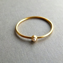 artemer - Gold pearl ring