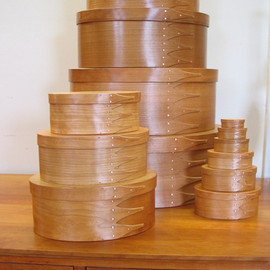 ORLEANS CARPENTERS - Cherry Shaker Oval Boxes #01-#9