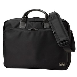 PORTER, PORTER TIME/ - 2WAY BRIEF CASE (L)/Black