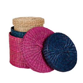 ZARA HOME - Round Basket with Lid(Set of 3)