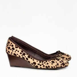 TORY BURCH - HAIRCALF CHELSEA WEDGE