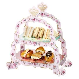 pastries pearls cake stand