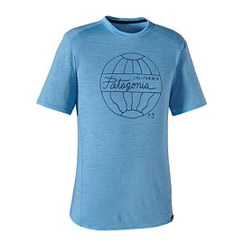 patagonia - Men's Merino 1 Silkweight Graphic T-Shirt Wavemakers: Skipper Blue