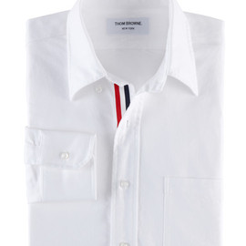 THOM BROWNE - CLASSIC OXFORD BUTTON DOWN SHIRT WITH GROSGRAIN PLACKET