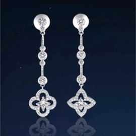 LOUIS VUITTON - Louis Vuitton, diamand earrings