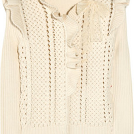 REDValentino - Cotton-blend knitted cardigan