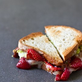 Avocado Strawberry + Goat Cheese Sandwich