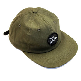 Raised By Wolves - Varsity Circle Polo Cap - Army Green