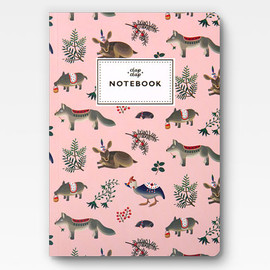 Clap Clap - Forest Animals Notebook - Pink -