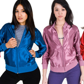 American Apparel - Unisex Peacock Satin Charmeuse Night Jacket