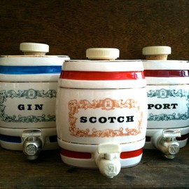 Vintage Ceramic Beverage Dispensers