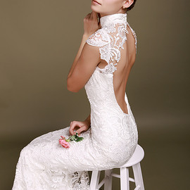 Fancy Lace Mermaid Wedding Dress - Fancy Lace Mermaid Wedding Dress