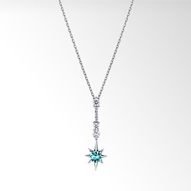 STAR JEWERY - CROSSING STAR PARAIBA TOURMALINE NECKLACE