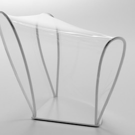 nendo - transparent chair