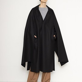 HYKE - DOUBLE FACE COAT WITH STALL
