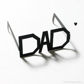Mr Printables - Typography Glasses