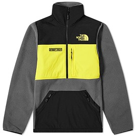 THE NORTH FACE - Steep Tech Half Zip Hoodie - Grey/Yellow/TNF Black