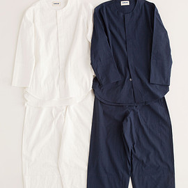 """NOWHAW - """"shhh"""" pajama #navy / #white パジャマ/シアサッカー"""