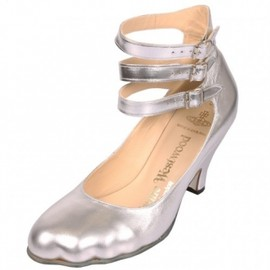 Vivienne Westwood - Low 3 Strap Shoes Silver 1