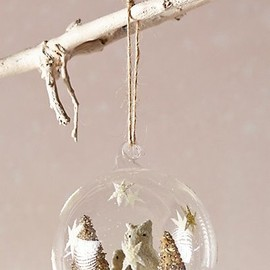 Arctic Owls Globe Ornament