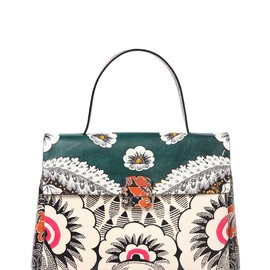 VALENTINO - SS2015 PRINTED LEATHER TOP HANDLE BAG