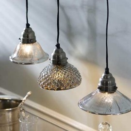 Mothology - Mercury Glass Pendant Lamps