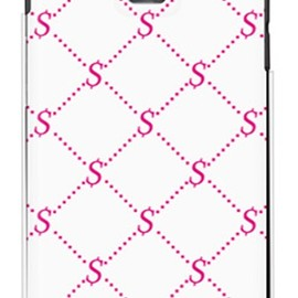 SECOND SKIN - S Monogram ホワイト×ピンク(クリア)design by ROTM / for GS03/EMOBILE