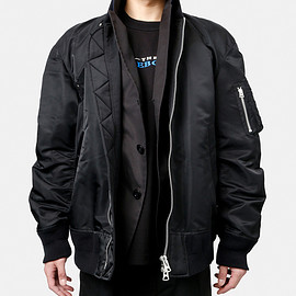 sacai - LAYERED BOMBER JACKET