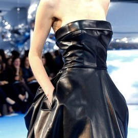 Dior - A/W13 leather dress