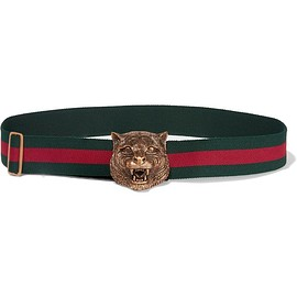 Gucci - Striped canvas belt