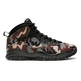 "NIKE - Air Jordan 10 Retro ""Woodland Camo""  Medium Olive/Black-Dark Army-Dark Cinder"