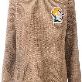 MSGM - beaded face patch jumper