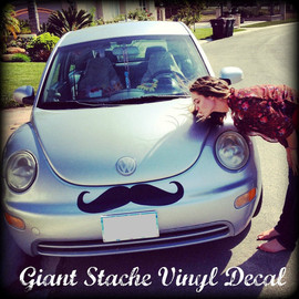 ImSeriouslyJoking - Giant Car Mustache Vinyl Decal - The Handlebar