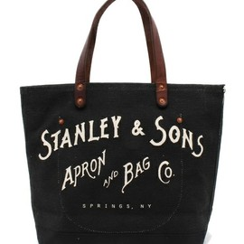 Stanley & Sons - Small Logo Tote(トートバッグ)|ブラック