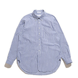 ENGINEERED GARMENTS - 19th BD Shirt-Bengal St. Broadcloth-Navy×White