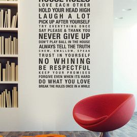 urbanwalls - House Rules Vinyl Wall Stickers