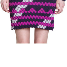 Kenzo - bubble knit mini skirt