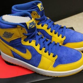 Nike - NIKE AIR JORDAN 1 RETRO HIGH OG YELLOW/BLUE