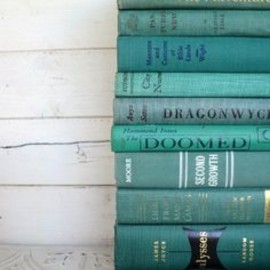 TEAL: GREEN: vintage books