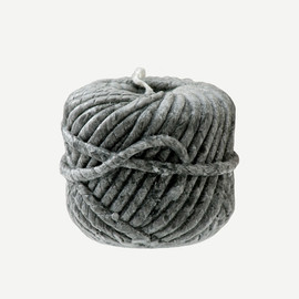 Bougies La Francaise - WOOLBALL CANDLE GREY SMALL