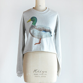 quote - howmanytshirt フレンチテリー Cropped top スウェット Mint Duck