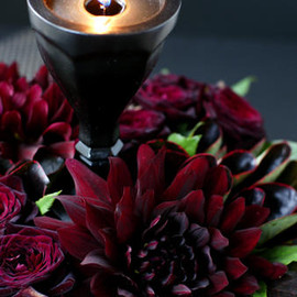 Jane Packer - DEICA GLASS CANDLE+FLOWER