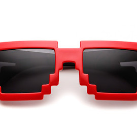 Pixel Sunglasses Red