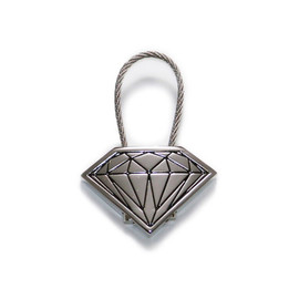 DIAMOND SUPPLY CO. - Cable Lock Keychain (Silver)
