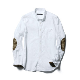 SOPHNET. - ELBOW PATCHED OXFORD B.D SHIRT