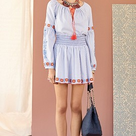 Tory Burch - Tory Burch Madison Embroidered Cotton Tunic