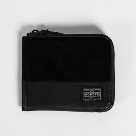 wings + horns, PORTER - Wallet - Black/Orange
